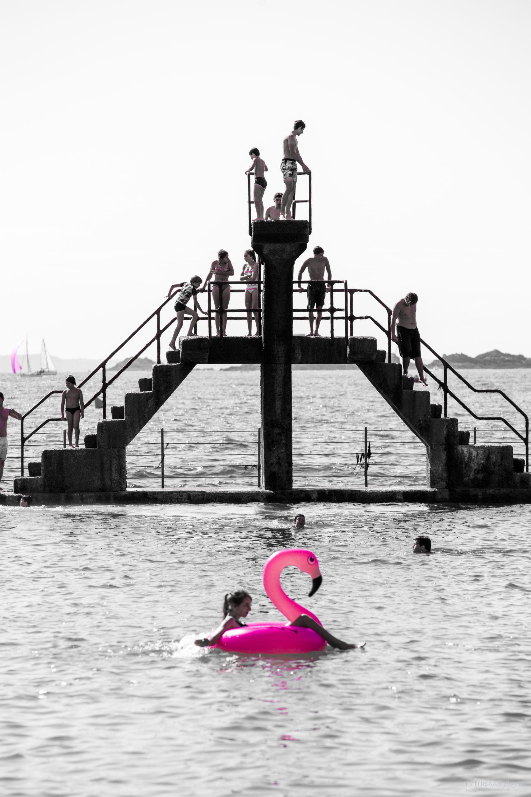plongeoir piscine bon-secours saint-malo flamand-rose