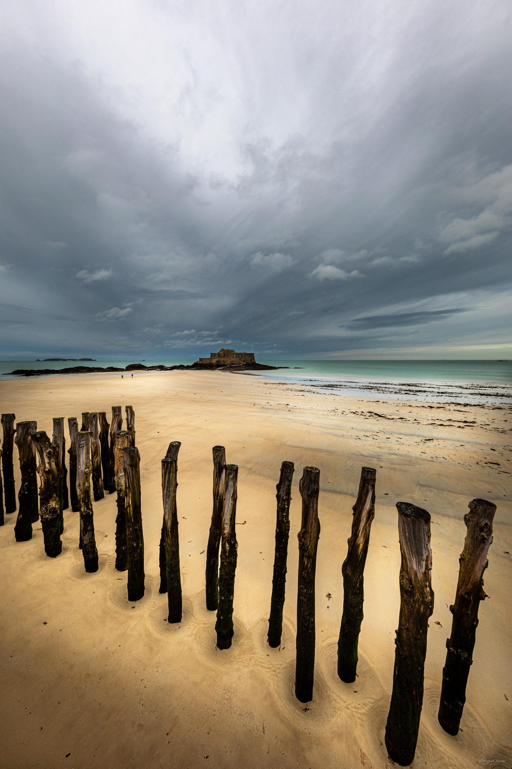 photographie sillon plage brise lame