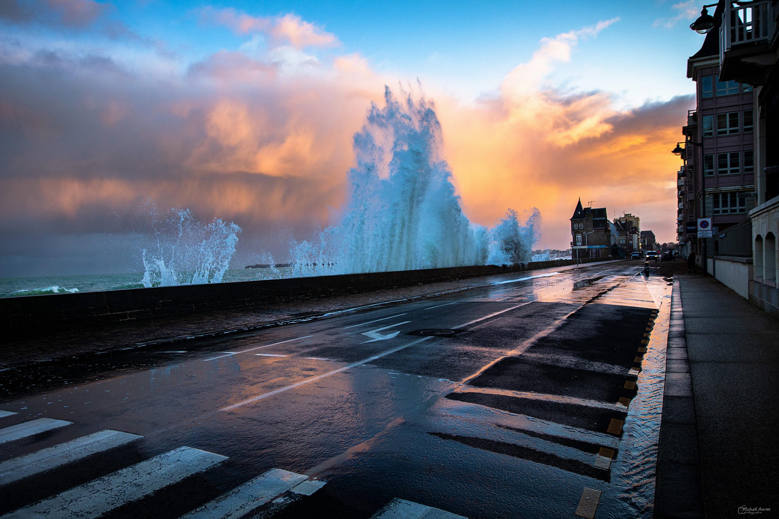 photographie tempête grande marée