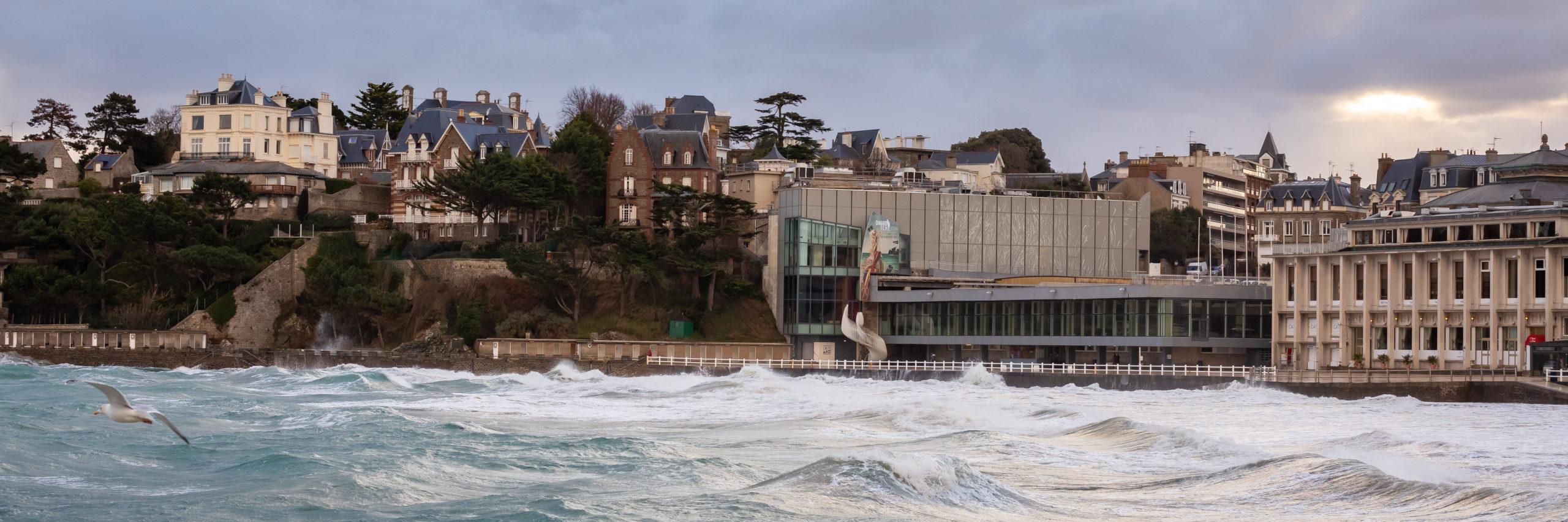 grande marée Dinard tempête