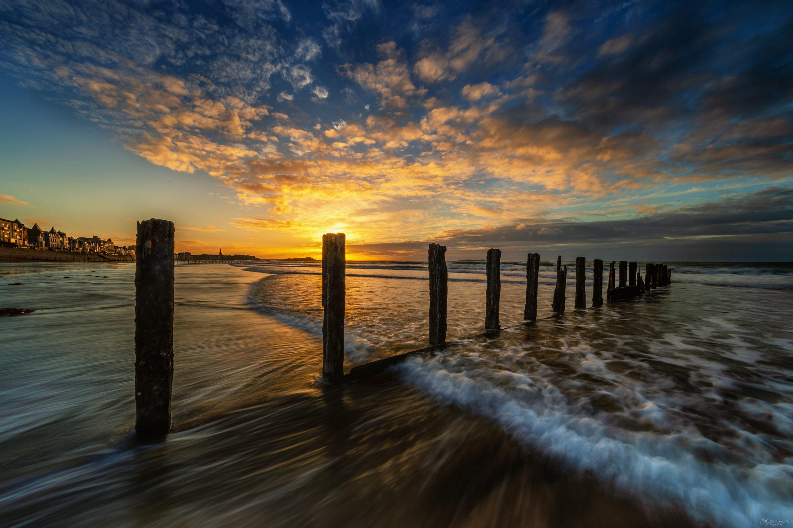 sunset sillon Saint Malo