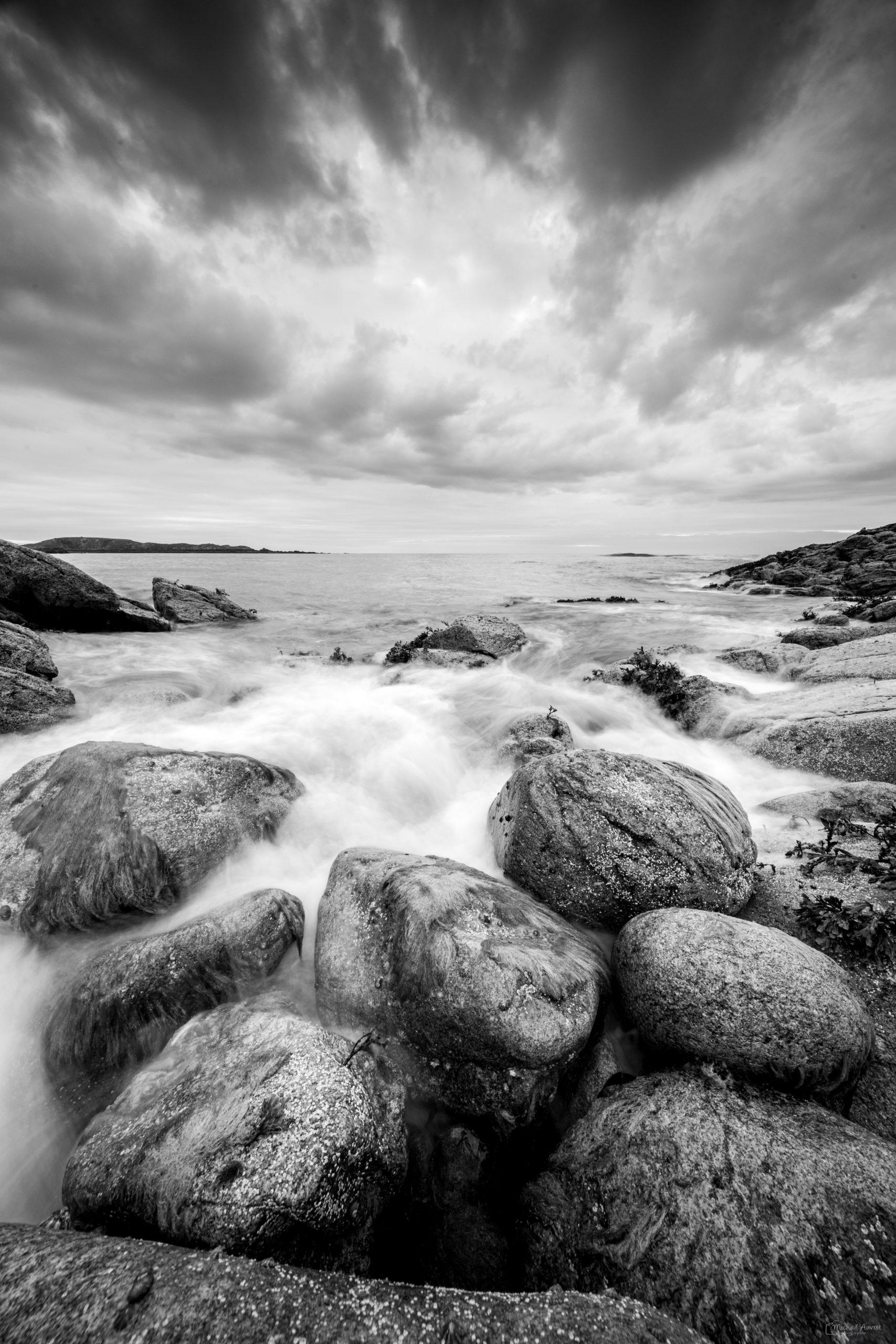 bretagne Gallet mer cote noir et blanc