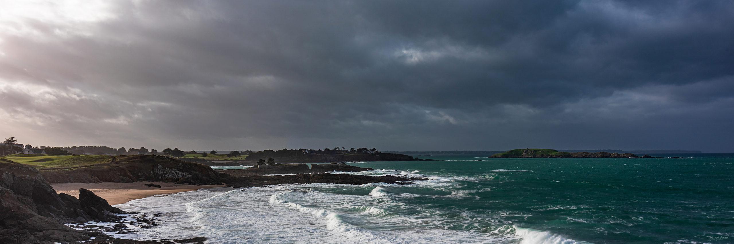 panoramique saint Briac bretagne orage lumière