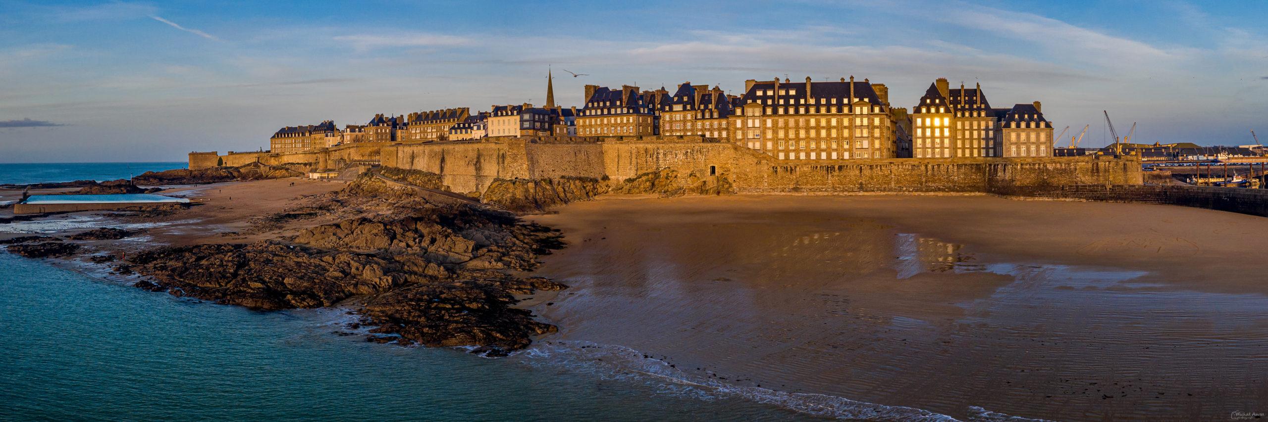 panoramique bretagne saint Malo intra muros