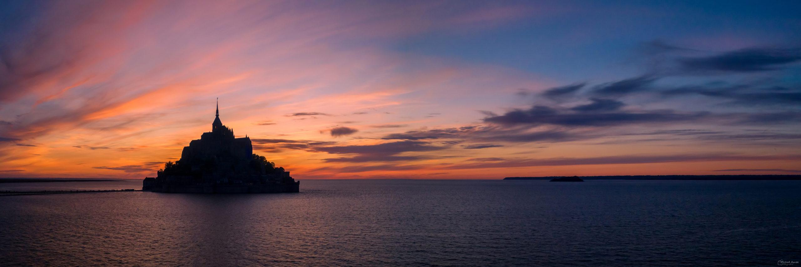 sunset mont saint michel coucher de soleil